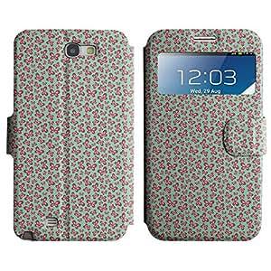 LEOCASE mariposa de color rosa Funda Carcasa Cuero Tapa Case Para Samsung Galaxy Note 2 N7100 No.1003968