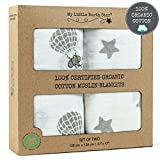 Swaddle Blankets - 100% ORGANIC COTTON - Soft and...