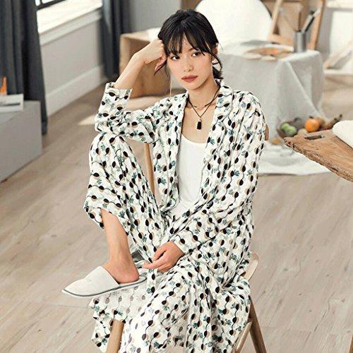 ZLR La signora Summer Season Sleep Robe Accappatoio a maniche lunghe Pigiama Suit Accappatoio Home Clothes ( dimensioni : M )