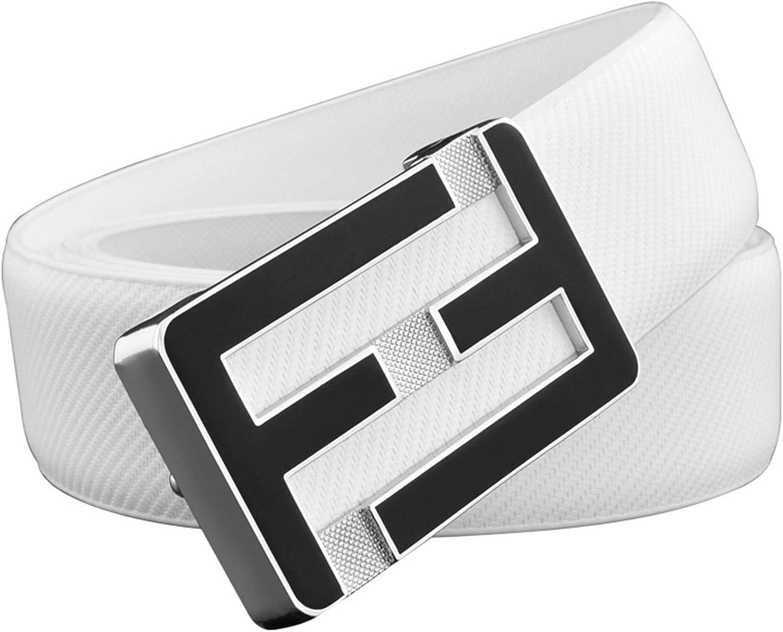 F Leather Belts Men Genuine Leather Designer Waist Strap Fashion Off Blac Lettercowsin Waistband