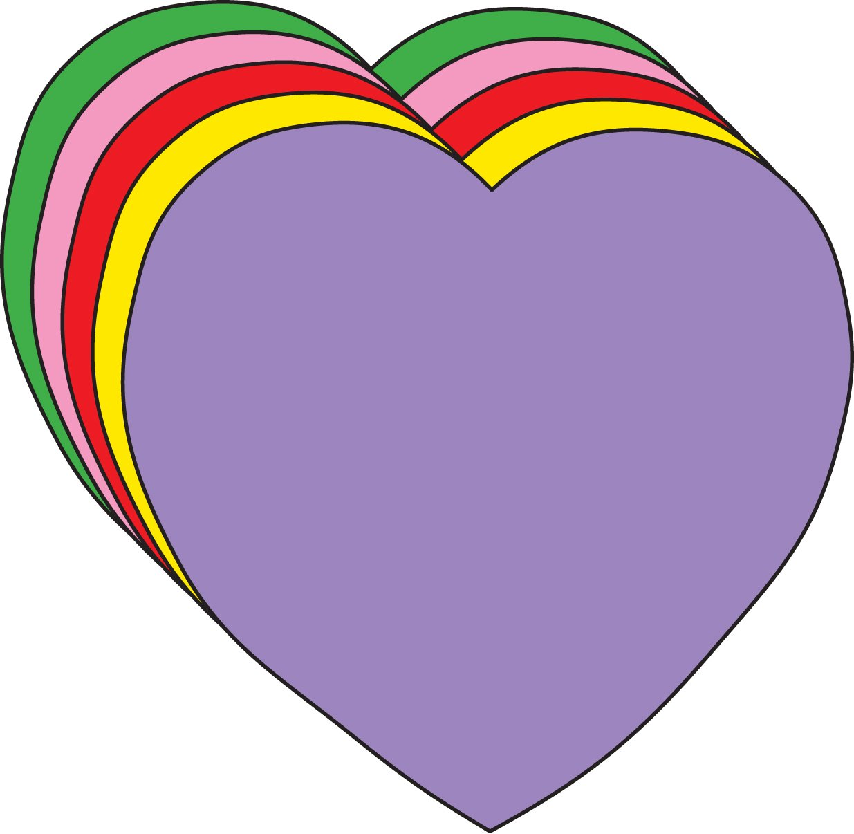 """5.5/"""" Heart Large Assorted Color Creative Cut-Outs 31 Cut-Outs in a Pack for Kids/' Love and Peace School Craft Projects Valentine/'s Day Craft."""