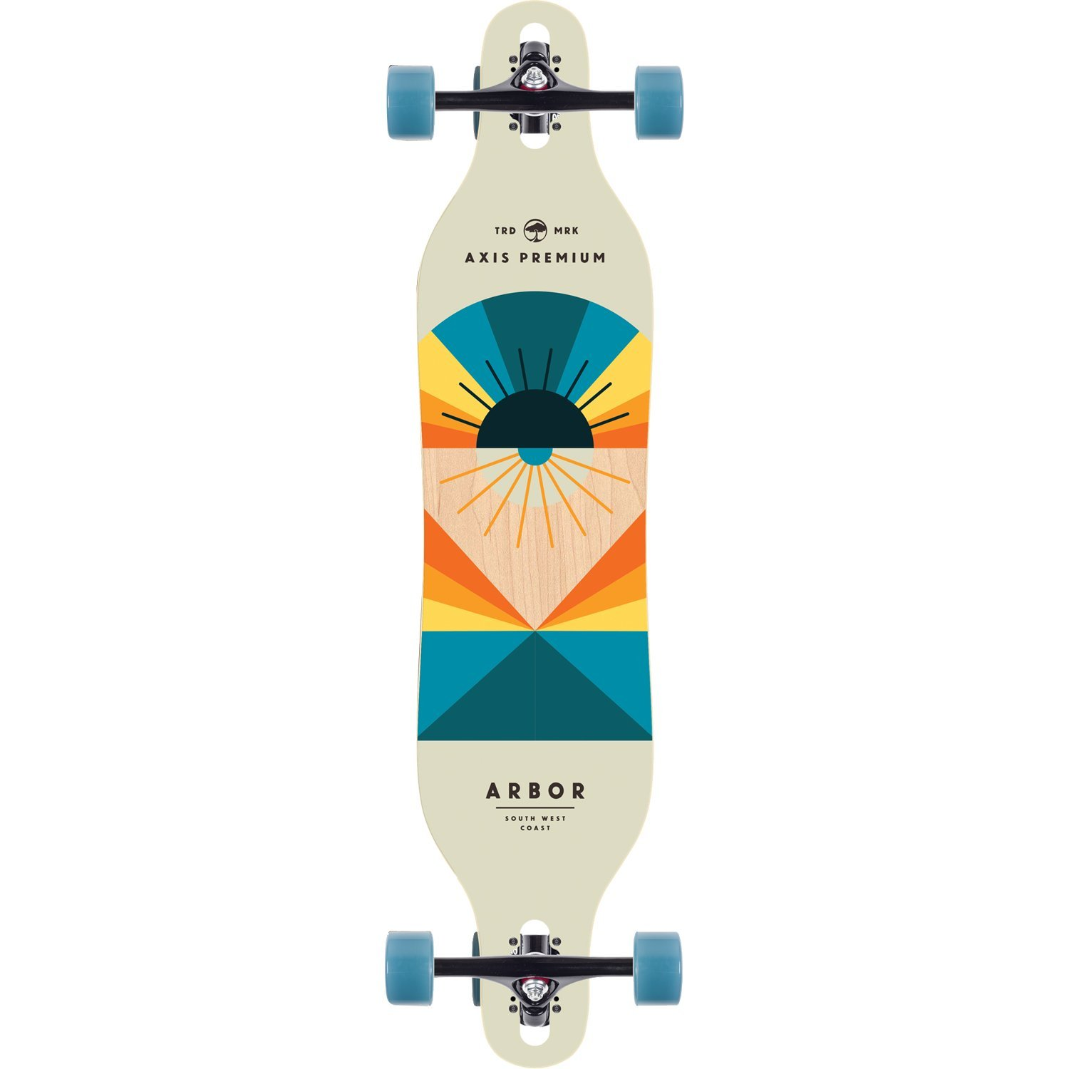 Arbor Flagship Premium Axis Complete Longboard Skateboard -8.8x40 - Brand new 2017 Model!