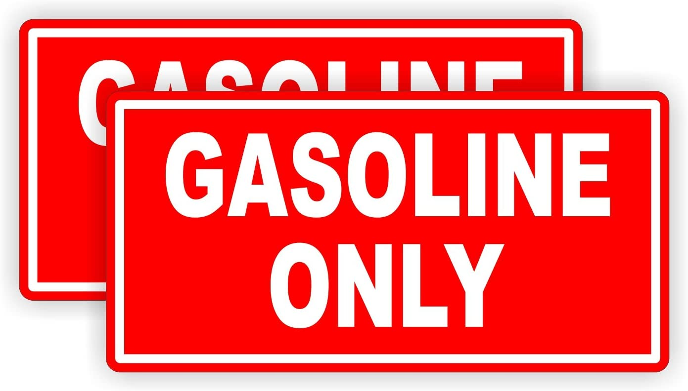 Fuel Door Label FREE SHIP Sticker 8 GASOLINE ONLY Decals Car Truck Gas Cans