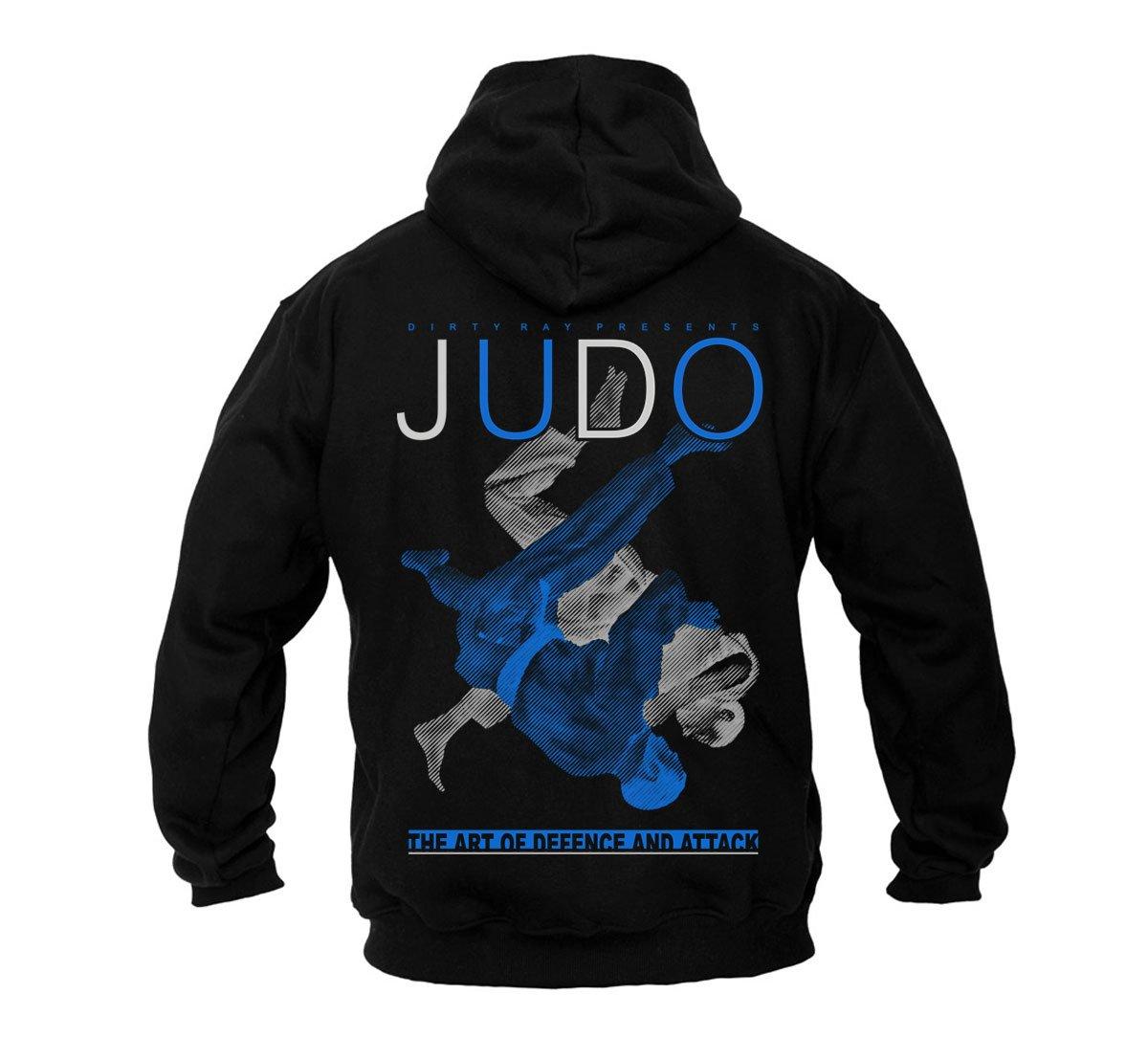 Dirty Ray Artes Marciales Judo sudadera hombre con capucha B20C