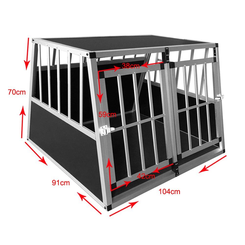 Dog Car Crates 65X91X70CM Aluminum Car Dog Cage Travel Puppy Crate Pet Carrier Transport