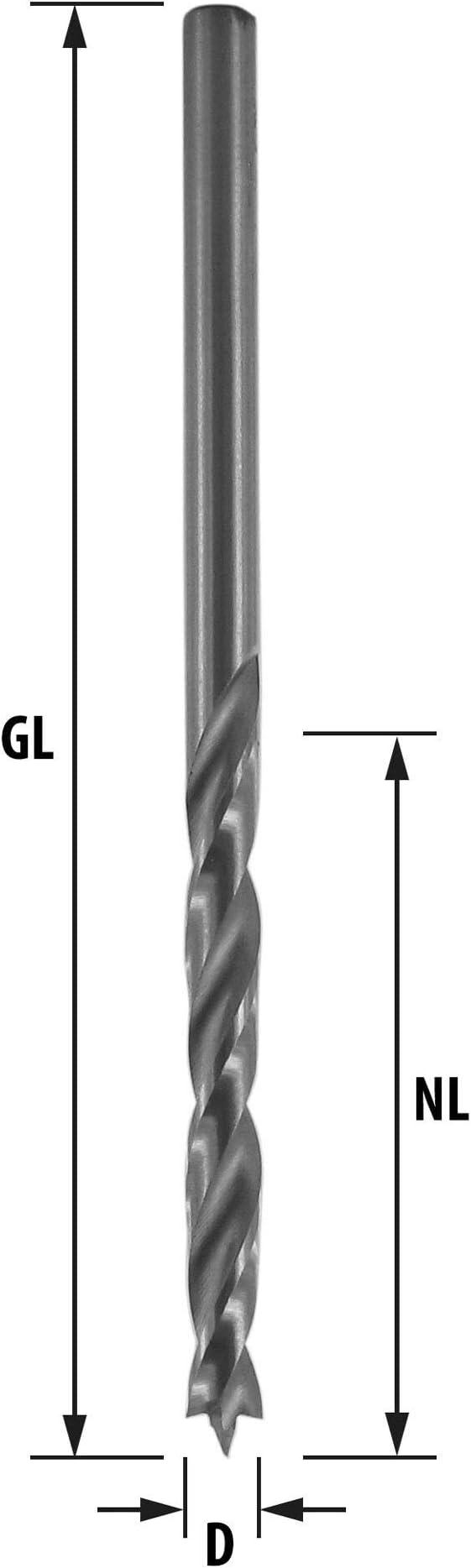 blanke Ausf/ührung Profilgeschliffen Jeco Spiralbohrer Bohrer /Ø 0,5 mm HSS-G 10 St/ück DIN 338 N