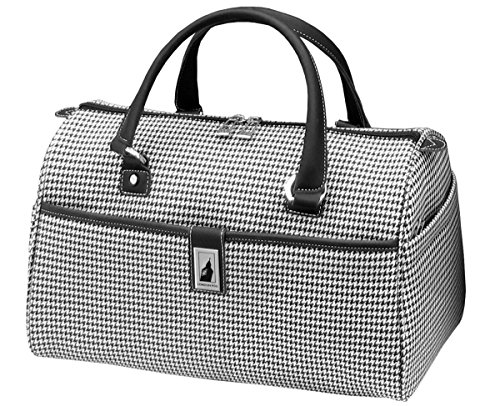 london-fog-cambridge-16-inch-classic-satchel-black-white