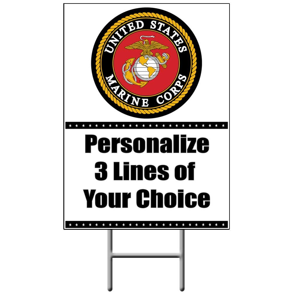 Partypro US MARINE CORPS YARD SIGN (EACH) by