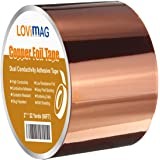Copper Foil Tape (2inch X 33 FT) with Conductive Adhesive for Guitar and EMI Shielding, Slug Repellent, Crafts…