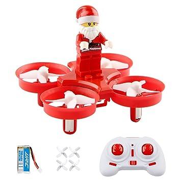 Mini Drone, SHIRUI H67 Papá Noel RC Quadcopter con Música y LED, juguetes Aviones