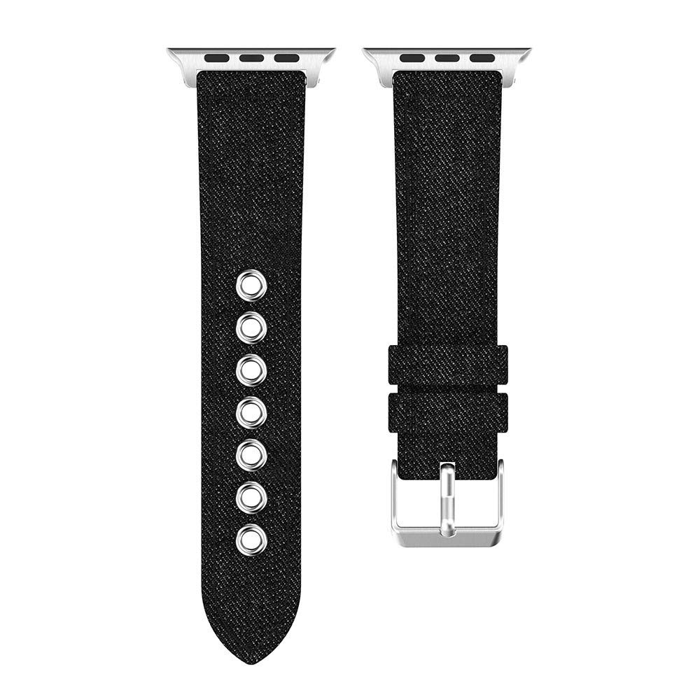 Lovewe iWatch 4 Watch Band,New Fashion Denim Fabric Watch Bracelet Band Strap For Apple Watch Series 4 40MM/44MM (Black, 40MM)