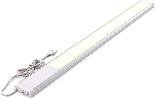 bklicht reglette led platine led 10w integree 1100 lumen longueur 57 5cm blanc chaud 3000k ip20 eclairage cuisine atelier plan de travail