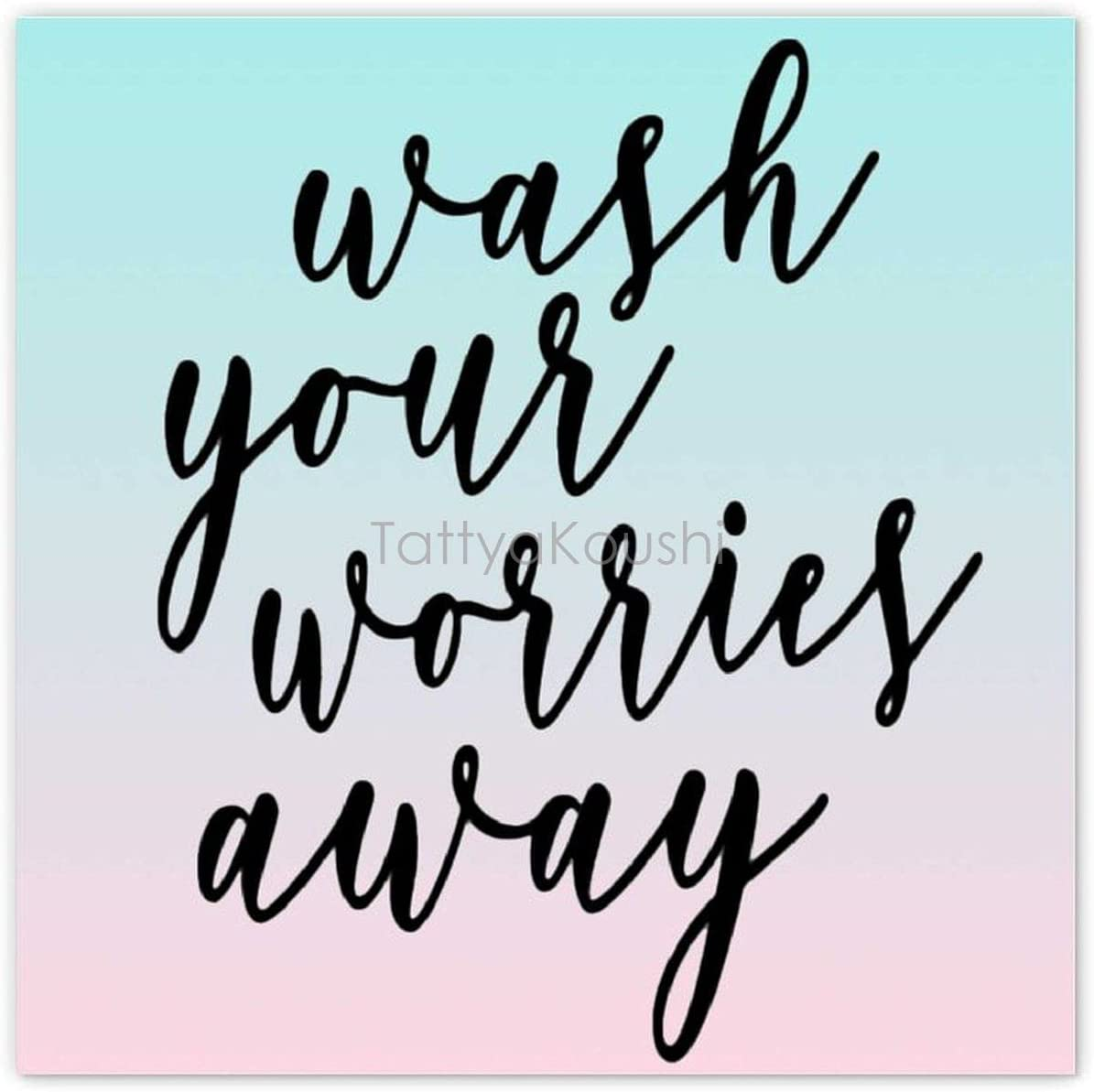 Wall Art Home Decor, Wash Your Worries Away Canvas Prints Home Decoration Canvas for Wall to Print Framed, Wall Hanging Art, 12