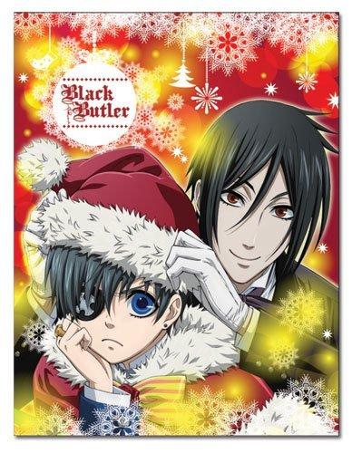 black butler ceil sebastian christmas throw blanket - Black Butler Christmas