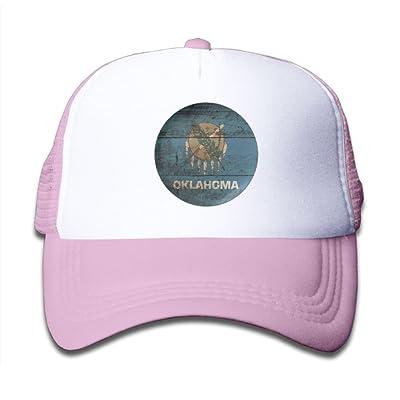 DNUPUP Kid's Vintage Oklahoma Flag Adjustable Casual Cool Baseball Cap Mesh Hat Trucker Caps