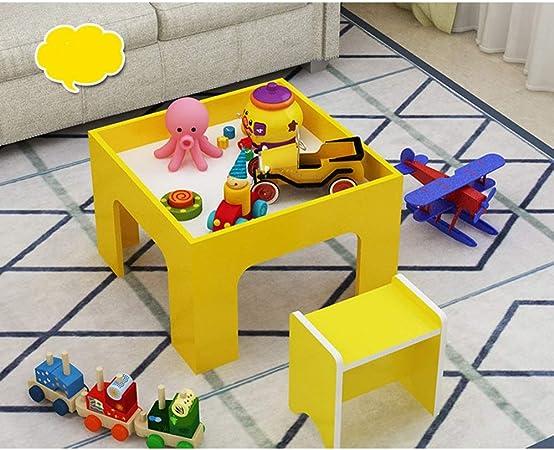 OUY Mesa Infantil Infantil Tabla de Tren de Mesa de Madera Juego de Mesa Edificio bebé