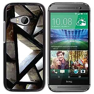 Be Good Phone Accessory // Dura Cáscara cubierta Protectora Caso Carcasa Funda de Protección para HTC ONE MINI 2 / M8 MINI // Building Architecture Polygon Engineering
