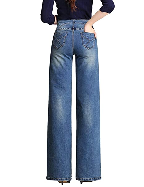 Pantalones Vaqueros De Las Mujeres Mujeres De Alta Cintura ...