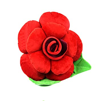 QIAO Juguetes De Peluche, Rosas Cojines De Almohada Grandes, Parejas De Flores Frondosas,