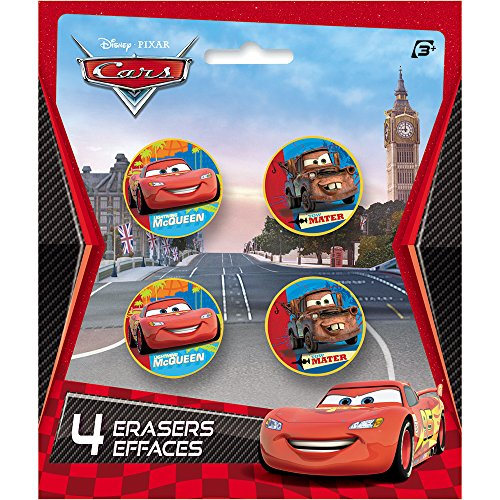 Disney Cars Eraser Party Favors, 4ct ()
