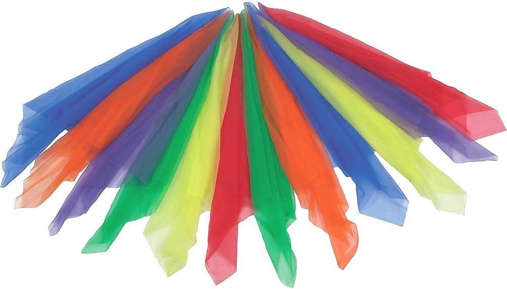 Rhythm Band Large Rhythm Scarves Multi-Color(Pack of 12): Toys & Games