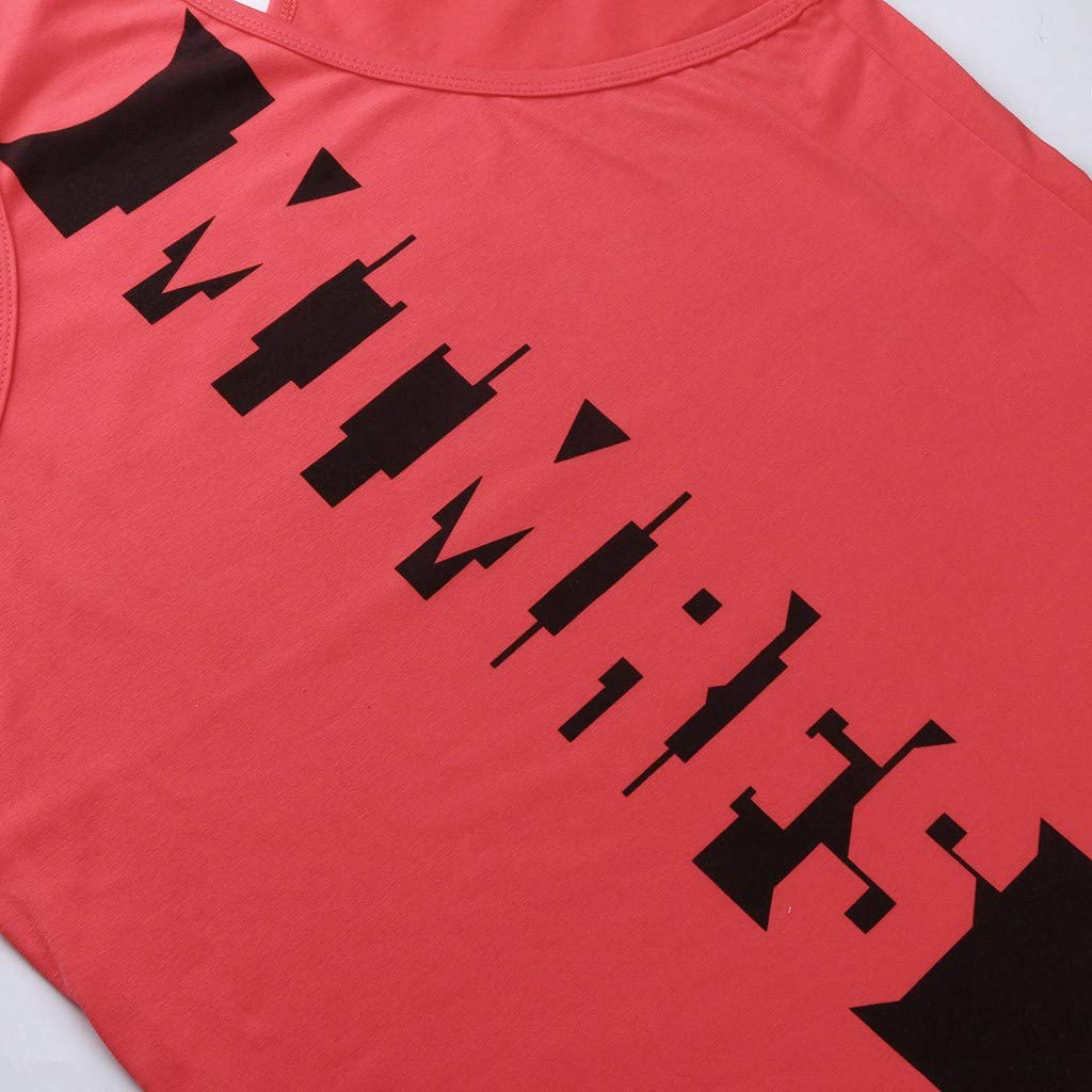 SoonerQuicker Camicia A Maniche Corte Senza con Stampa Sportiva Camicie da Bodybuilding Muscolare di Moda Uomo