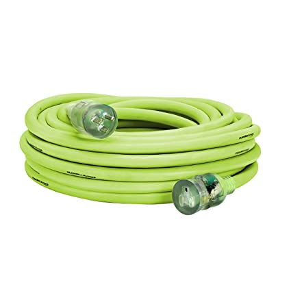 Flexzilla Pro Extension Cord, 10/3 AWG SJTW, 50 ft, Lighted Plug