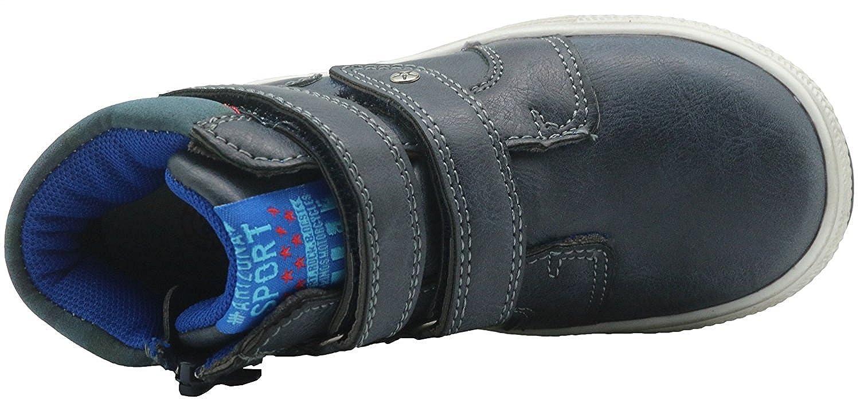 Apakowa Little Kids Sneakers Boys /& Girls Boots Side Zipper /& Double Fastener Closure Distress Outsole