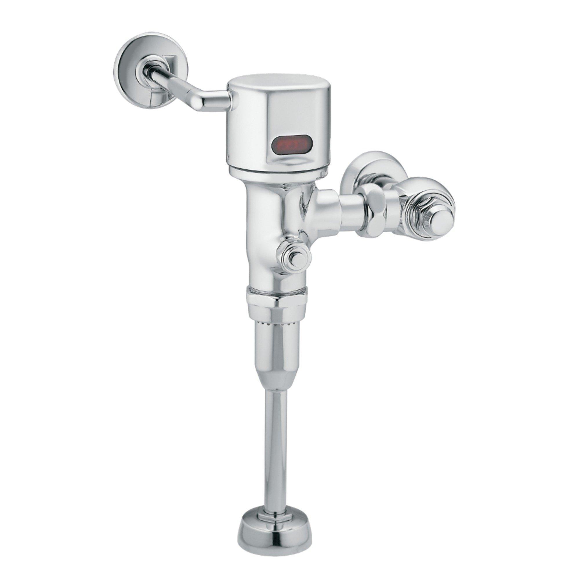 Moen 8316AC Commercial M-Power Electronic AC Powered Sensor Operated Urinal Flush Valve, .125 gpf, Chrome