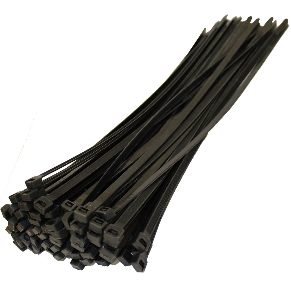 14'' Black Nylon Cable Ties - 120 lb. Test (100 Pack HD)
