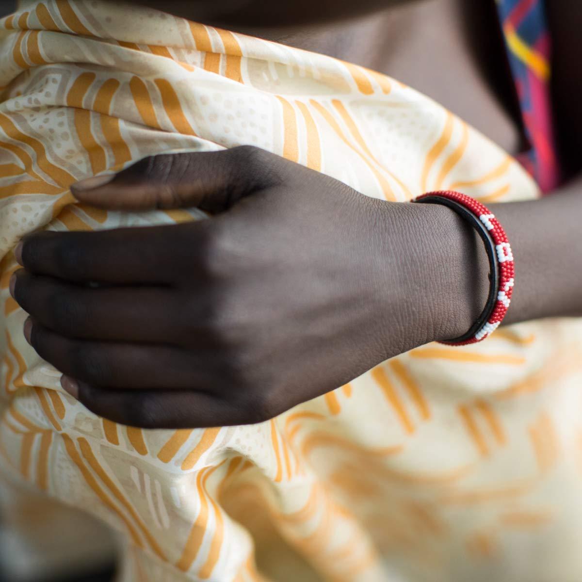 UBUNTU LIFE RED Skinny Love Bracelet