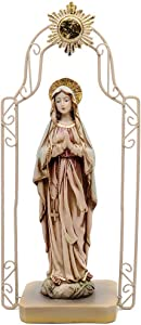 """Comfy Hour 11"""" Religious Praying Virgin Mary Statue, The Blessed Mother of The Immaculate Comception Home Madonna Figurine"""