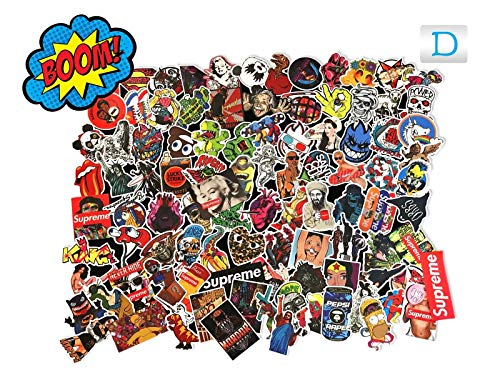 Gifts & Merchandise 100 Pcs Car Motorcycle Bike Bicycle Skateboard Snowboard Laptop Luggage Vintage Vinyl Sticker Graffiti Laptop Luggage Decals Bumper Stickers Random Styles by Luckystone
