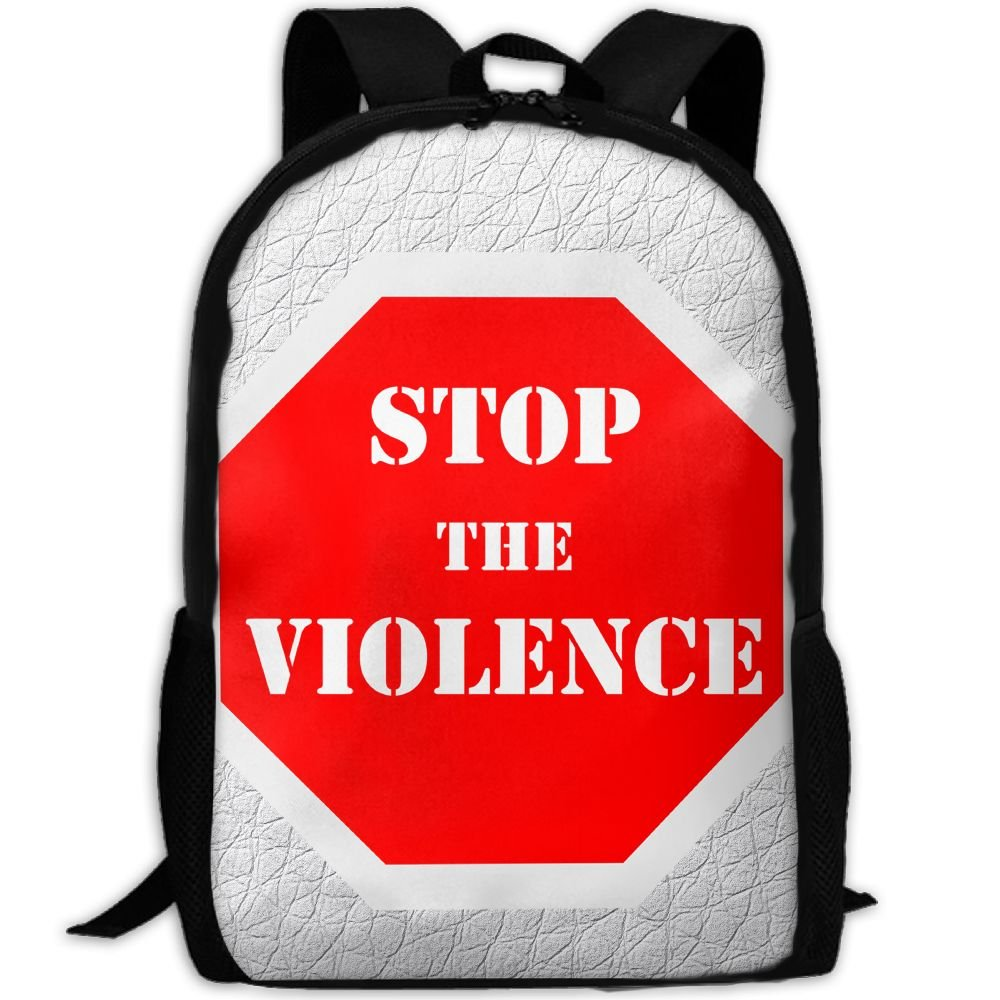 Stop The Violence Double Shoulder Backpacks For Adults Traveling Bags Full Print Fashion by THIS STORE