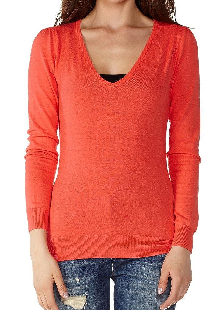 Dinamit Juniors Cotton Long Sleeve V-Neck Sweater