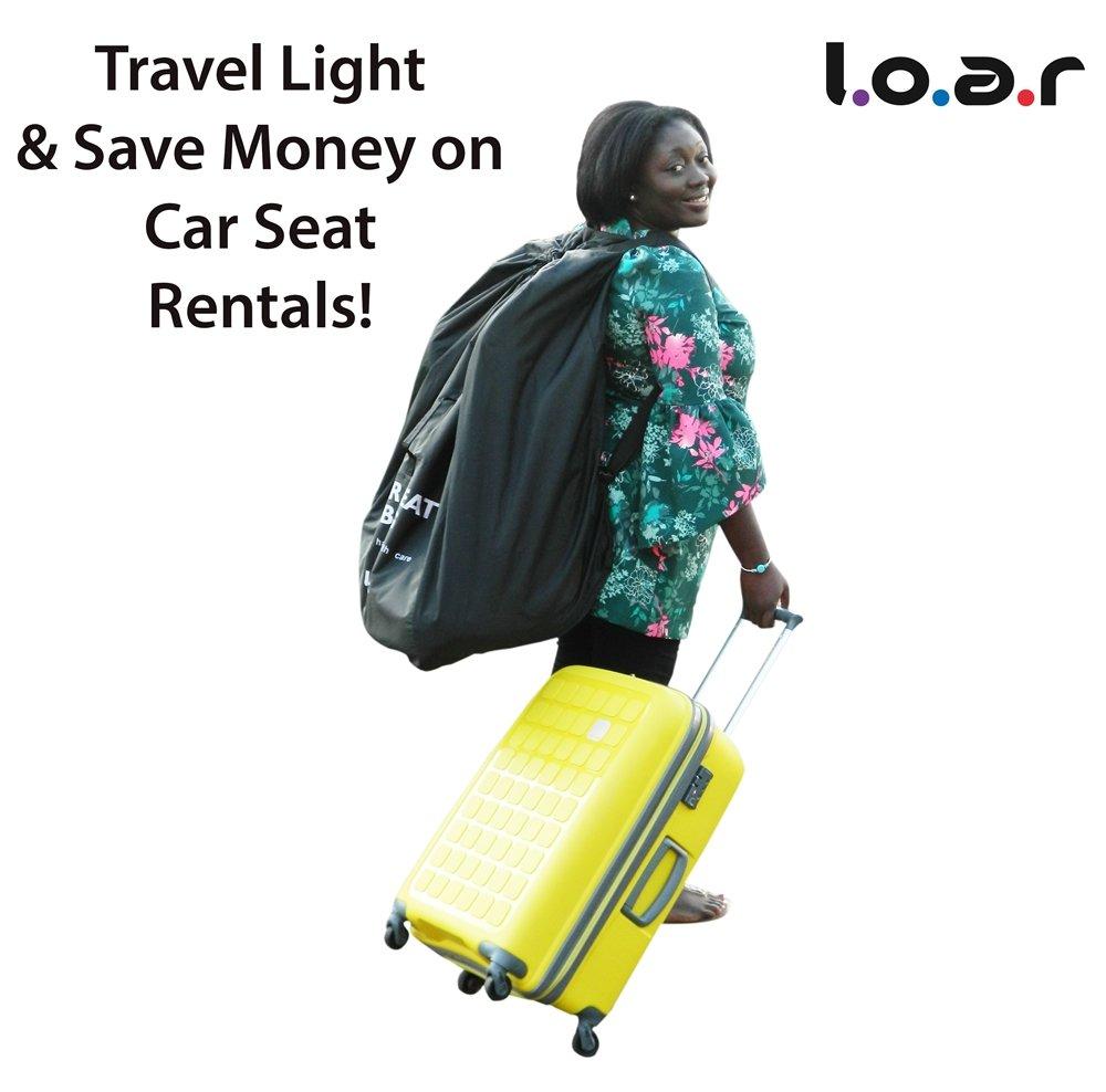 Asiento de coche bolsa de viaje para avión | proteger su bebé del asiento de coche de la suciedad, manchas y grasa | fácil de transportar mochila con cómodo ...