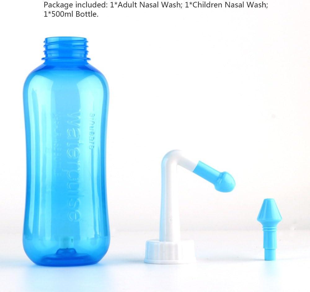 OurLeeme nasal aspirador nasal lavado nasal botella de 500 ml herramienta limpio de lavado de alivio de presión de Regantes Las alergias Enjuague Neti Cleanser Adultos Niños nariz: Amazon.es: Bebé