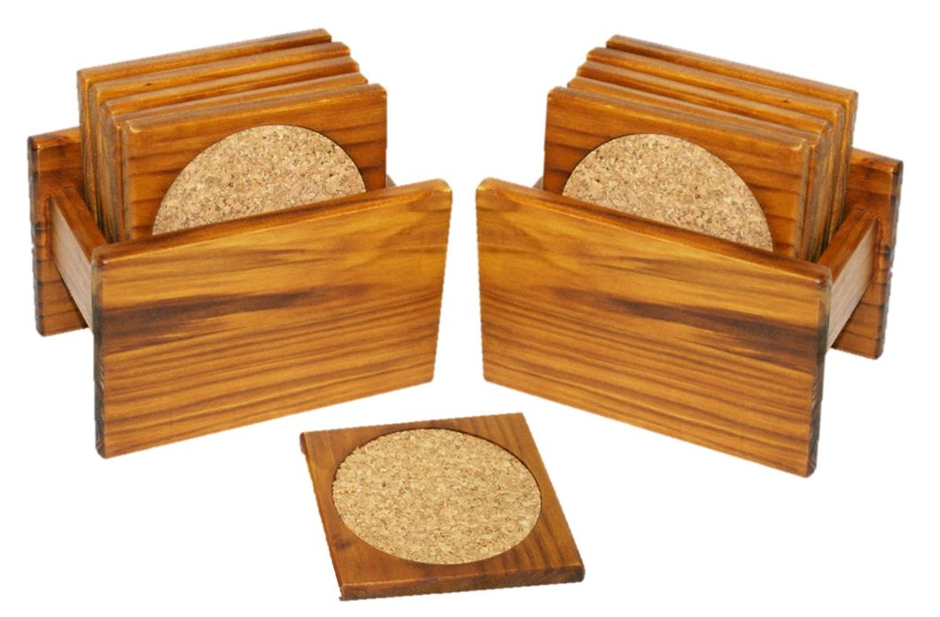 Deluxe 12 Piece Coaster Set with Holders