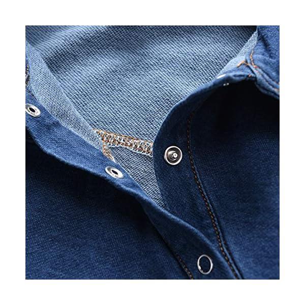 greatmtx - Tutina per neonato, in jeans 4