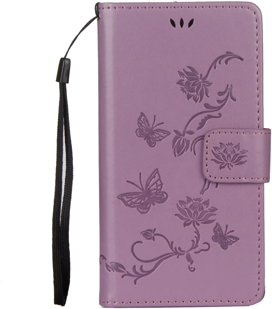 Isaken Sony Xperia Xa1 Hülle Pu Leder Flip Cover Elektronik