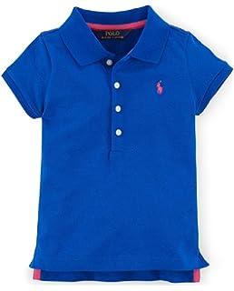 8b1b5312 Amazon.com: Ralph Lauren Girls Stretch Mesh Polo Shirt: Clothing