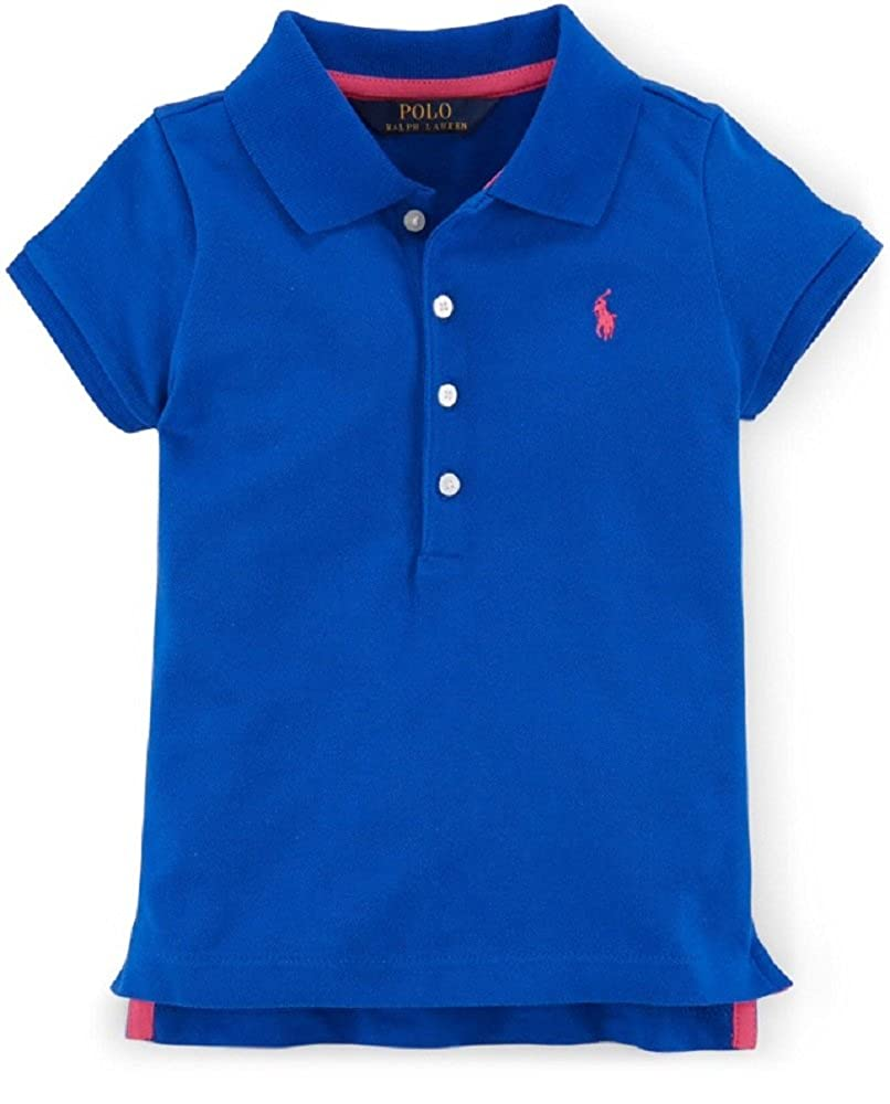 Ralph Lauren Little Girls Tennis Tail Polo Shirt Sailing Orange