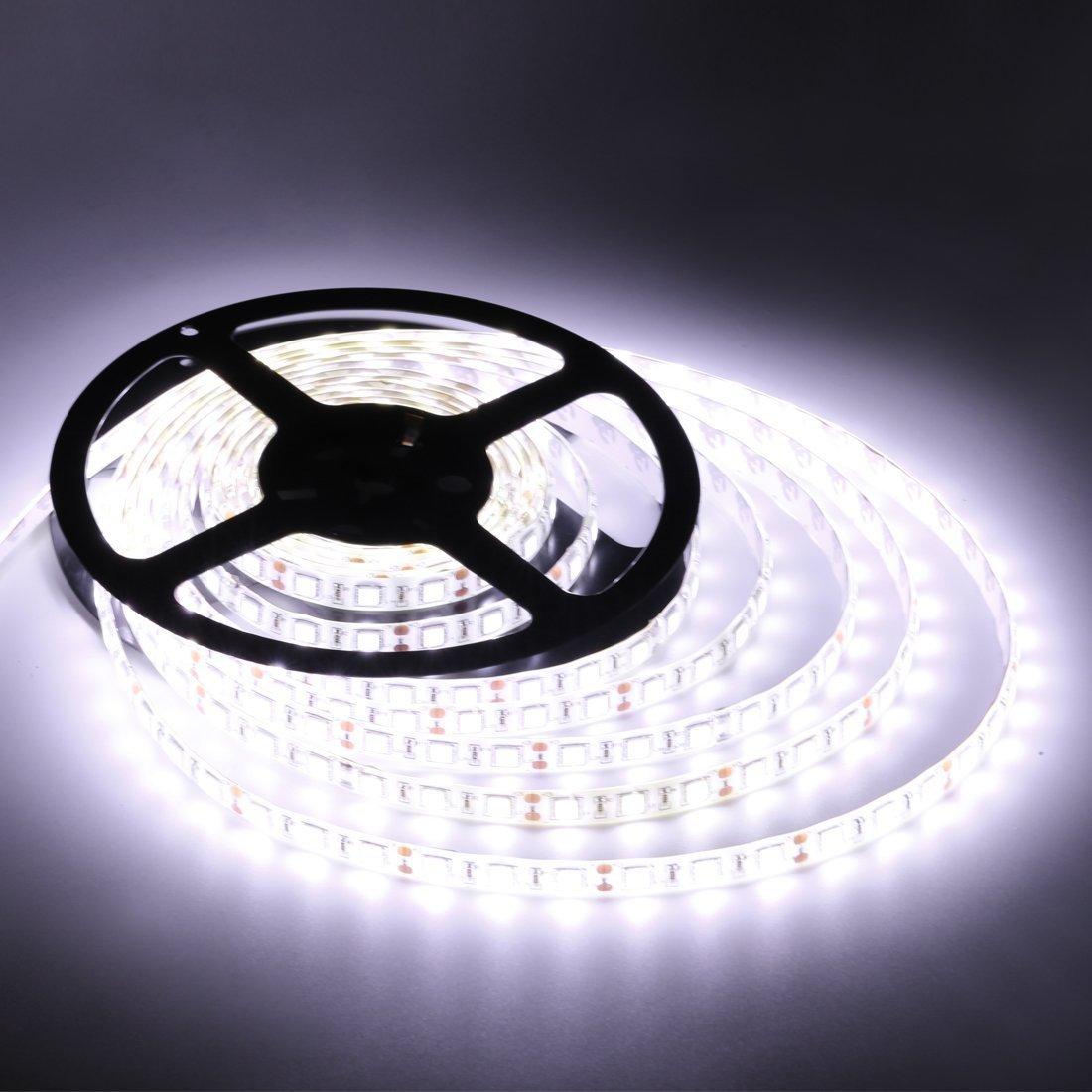 Amazon.com: Flexible LED Strip Lights,White,300 Units SMD 5050 LEDs ...