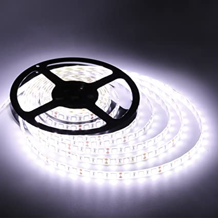 Amazon flexible led strip lightswhite300 units smd 5050 leds flexible led strip lightswhite300 units smd 5050 ledswaterproof12 aloadofball Images