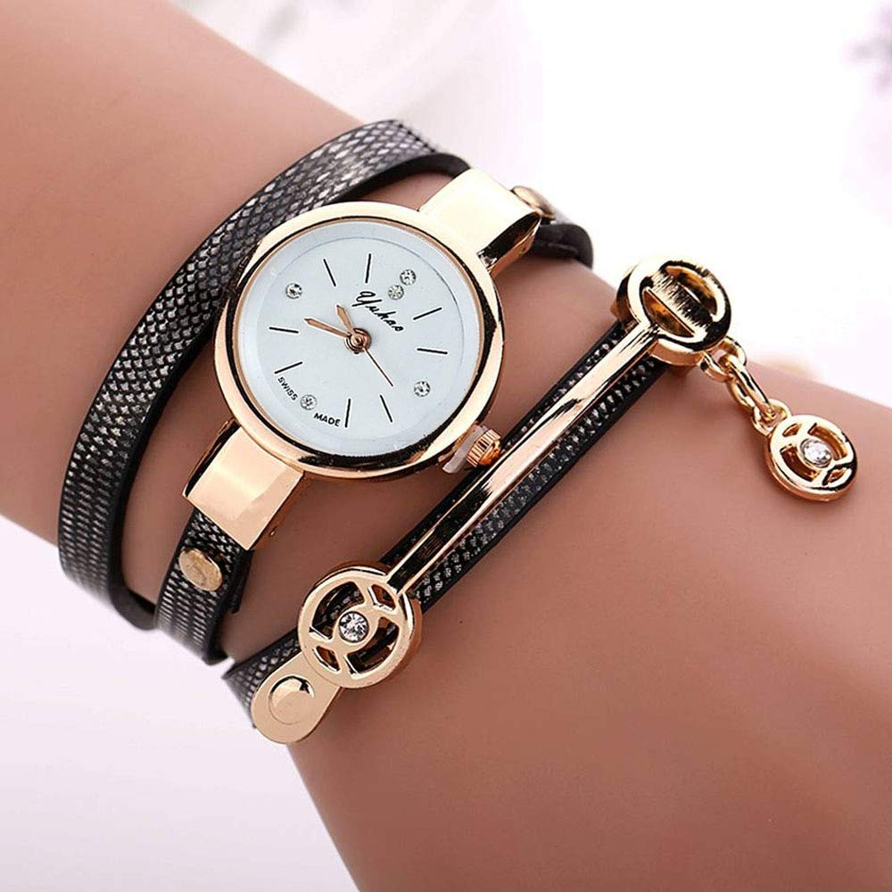 Amazon.com : Trolax - Relojes Mujer Women Metal Strap Wristwatch Bracelet Quartz Watch Woman Ladies Watches Clock Female Fashion Women Watches [Black] ...