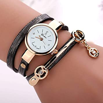 Trolax - Relojes Mujer Women Metal Strap Wristwatch Bracelet Quartz Watch Woman Ladies Watches Clock Female