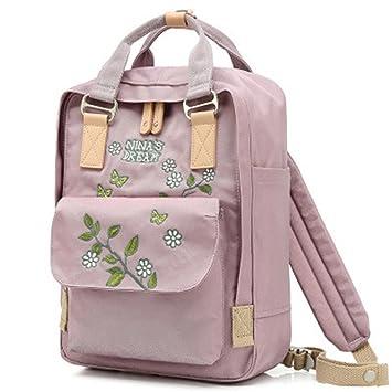 Hembra mochilas escolares para niñas adolescentes mujeres de mochila de viaje bordado: Amazon.es: Equipaje