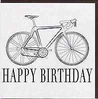 Elegante Glückwunschkarte Happy Birthday von Koko Designs mit Rennrad KS001