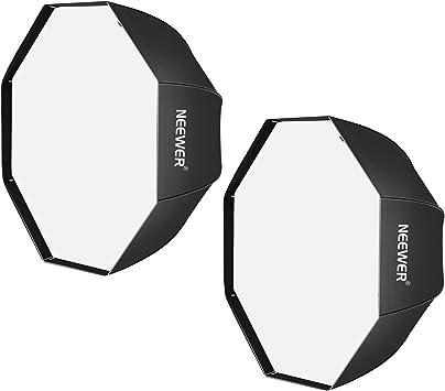 Neewer 32 Pulgadas/80 centímetros Negro Portable Octagonal Paraguas Softbox para Estudio Flash,Speedlite,con Difusor Blanco y Bolsa de Transporte para Retrato y Fotografía de Producto (2 Pack): Amazon.es: Electrónica