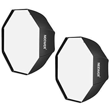 Neewer 47 Pulgadas/120 centímetros Negro Portable Octagonal Paraguas Softbox para Estudio Flash, Speedlite